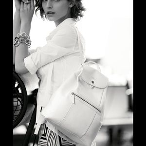 Longchamp Veau Foulonne Leather Backpack